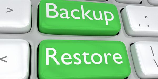 Back up restore